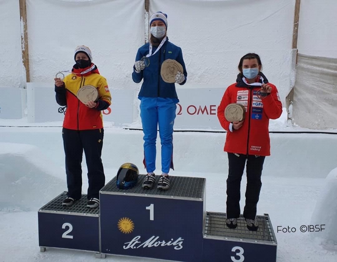 Skeleton Jugend-Weltmeisterschaft in St. Moritz (CH)